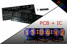 Nixie Clock KIT PCB + IC IN-12 Alarm RGB BACKLIGHT