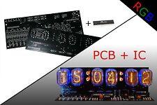 Nixie Clock PCB + IC IN-12 Alarm RGB BACKLIGHT