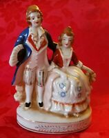 Vintage Porcelain Colonial Couple Figurine Made in Occupied Japan