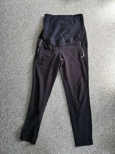 H&M Mama Maternity Eur 38 Size 10 Black Trousers