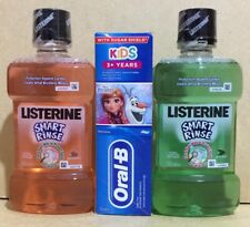 2x 250ml Mouthwash Listerine - For Kids 6️⃣➕& Oral B Toothpaste  - For Kids 3️⃣➕