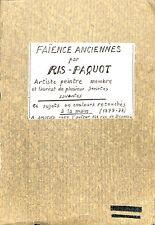 LIVRE RIS-PAQUOT MANUEL DU COLLECTIONNEUR DE FAIENCES ANCIENNES PLANCHES 1877