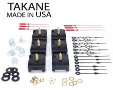 "USA Takane C-Cell Battery Clock Movement Kit with Hands,1 1/4"" Length (Set of 6)"