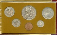Year of the Dragon 1976 Singapore 6-Coin Mint Set Uncirculated w/ Red Folder Unc
