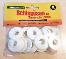 24 Stk. Schlägösen für Sonnenschutz Segel / Windhager Sonnensegel Zubehör