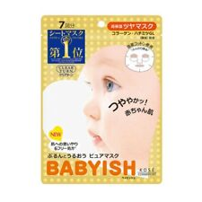 ☀Kose Clear Turn Babyish Face Mask Moisture Rich 7 sheets From Japan F/S
