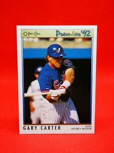 O-PEE-CHEE 1992 carte card Baseball MLB NM+/M Montreal Expos #29 Gary Carter