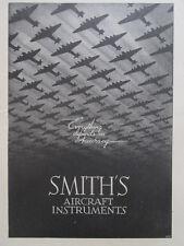 8/1945 PUB SMITHS AIRCRAFT INSTRUMENTS AVION PLANE FLUGZEUG ORIGINAL AD