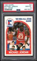 1989 Hoops #21 Michael Jordan All-Star PSA 10 GEM MINT