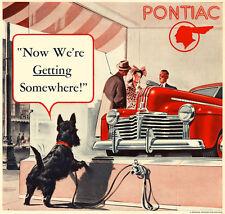 Scottish Terrier Pontiac Car Dealership Refrigerator / Tool Box Magnet