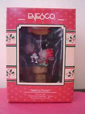 Enesco Vtg MISTLE TOAST Christmas Together Mice Ornament 1989 Mouse Wine Cork #1