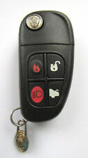 New listing Jaguar Cwtwb1U243 Oem 4 Button Keyless Entry Remote Flip Key Fob - Excellent