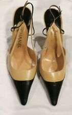 New w/ Box Chanel Two-Toned Sling Back Pumps Size 39