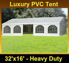 SAVE $$$ PVC Party Tent 32'x16' - Heavy Duty Wedding Canopy Carport - White