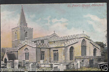 Nottinghamshire Postcard - St Peter's Church, Mansfield  RS131