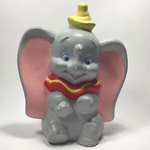 """Vintage Dumbo Walt Disney Productions 1950's Park Souvenir Ceramic Chalkware 9"""""""