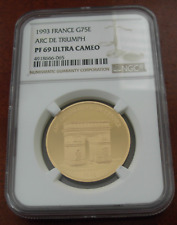 France 1993 Gold 500 Francs 75 Ecus NGC PF69UC Arc de Triumph