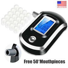 Police LCD Digital Breath Alcohol Tester Personal Breathalyzer Detector Meter