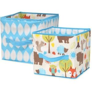 Little Bedding by Nojo Woodlands Collapsible Storage Bin, 2 Pack