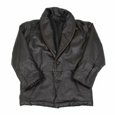 ISSEY MIYAKE MEN Leather Zip Lapel Half Coat Size L(K-49769)