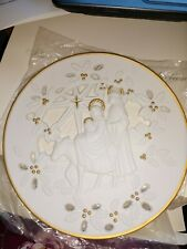 Lenox Fine Porcelain Christmas Collector Plate 1995 Flight into Egypt