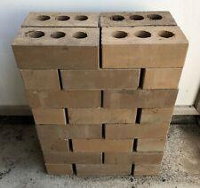 32 Unused Bricks, Brownish Colour, In Good Condition.