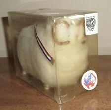 "Vintage Australia Souvenir - New-In-Box - Wool Sheep Ram w/Wood Legs 4"" x 5"""