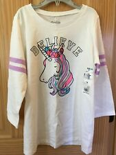 NWT Oshkosh Unicorn Shirt Tee Shirt Top Girls White...