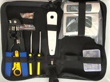 Probador De Cable De Red Ethernet RJ45 Kit de herramienta que prensa