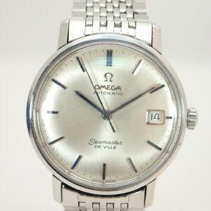 Omega Seamaster DE VILLE Self-Winding Watch Silver Dial Date Mens Wrist Watch