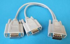 VGA SVGA Male to 2 Dual Female Y Splitter Adapter Cable Cord for PC LCD Monitor