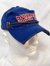 Dsquared2 Mens Cap Factory Distressed Rough Rider Blue Ajustable Hat