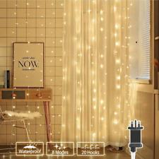306 LUCI LED TENDA RETE alimentata, 3m x 3m Bianco Caldo FAIRY stringa luci 8