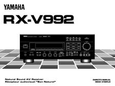 Yamaha RX-V992 Receiver Owners Manual