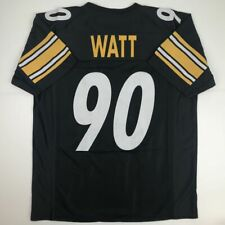 975546be2 New TJ T.J. WATT Pittsburgh Black Custom Stitched Football Jersey Size  Men's XL