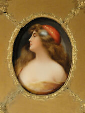 Antique German Porcelain Plaque Hutschenreuther Kpm - Asti - signed Wagner