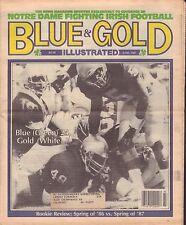 Blue & Gold Illustrated June 1987 Notre Dame Blue Gold Game 081417nonjhe