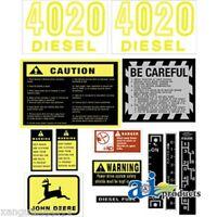 John Deere 4020 Diesel Tractor Hood Decal Set JD4020