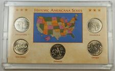 1999-P Uncirculated 5 Coin State Quarter Set in Hard Plastic Collectible Case