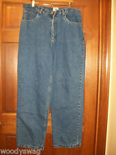 New BurryLane Jeans Size 40 by 34 New Old Stock Lining Warm blue plaid