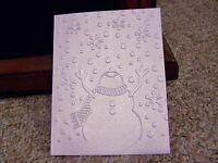 SNOWMAN ARMS UP DARICE  EMBOSSING FOLDER CHRISTMAS WINTER SNOWFLAKES