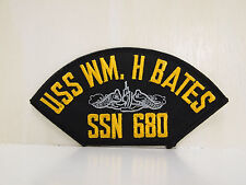 USS William H. Bates SSN 680 bordered Patches USN US SUBMARINE Navy Patch NEW