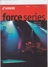 VINTAGE MUSICAL INSTRUMENT CATALOG #10504 - 2003 SONOR FORCE SERIES DRUMS