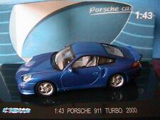 PORSCHE 911 996 TURBO 2000 DARK BLUE KDW 711 COLLECTION 1/43 BLEU FONCE BLAU