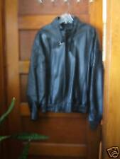 Mens Classic Style Black Leather Jacket from Spain