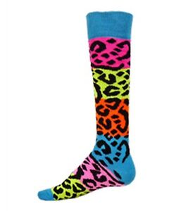 NEW RED LION RAINBOW LEOPARD KNEE HIGH SOCKS SOCCER VOLLEYBALL BASKETBALL