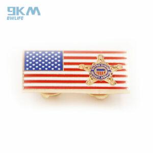 US MILITARY UNITED STATES FLAG METAL PIN BADGE