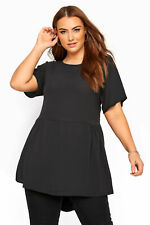 Yours Clothing Women's Plus Size Yours London Peplum Blouse