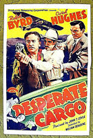 """AIR PIRATES in the middle of the Caribbean - 1941 poster - """"DESPERATE CARGO"""""""