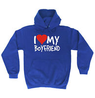 I Love My Boyfriend HOODIE hoody birthday girlfriend wife partner funny gift